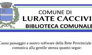 Biblioteca: passaggio a nuovo software