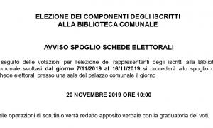 20 novembre - Spoglio schede elettorali per Commissione Biblioteca